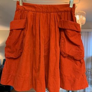 Orange rust color Anthropologie skirt Sz 0